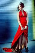 Image of Lalitta Red Saten Dress