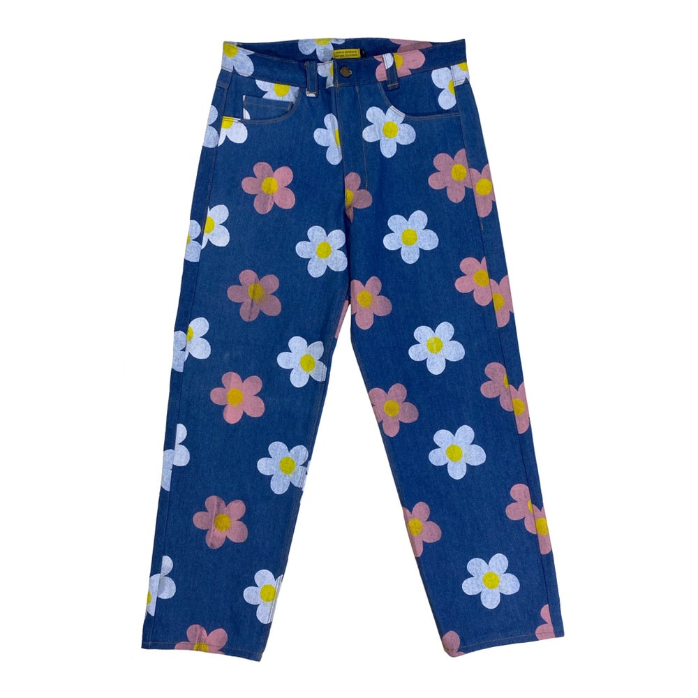 Image of Floral Print Jeans