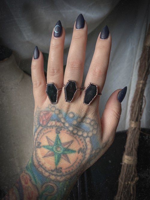 Image of Onyx Coffin Ring