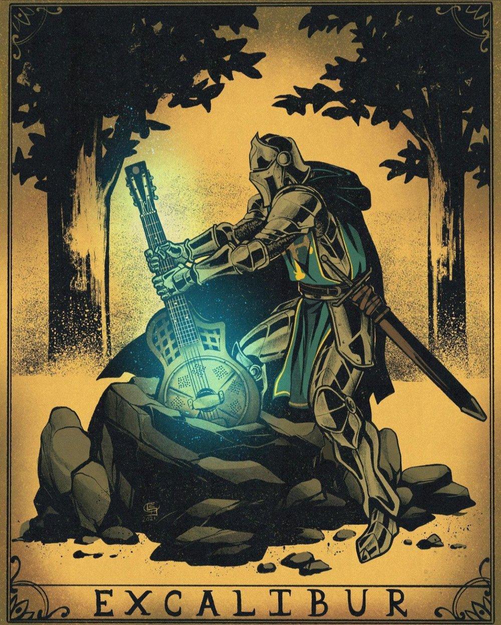 Image of Excalibur Print