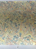 Marbled Paper Fabriano Collection Salmon & Indigo - 1/2 sheets