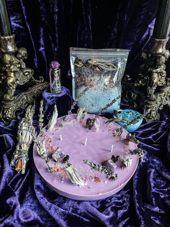 Image of No Bad Vibes, Ritual Candle, Ritual Bath Salts, Spell Jars - Ancient Pathways And Traditions