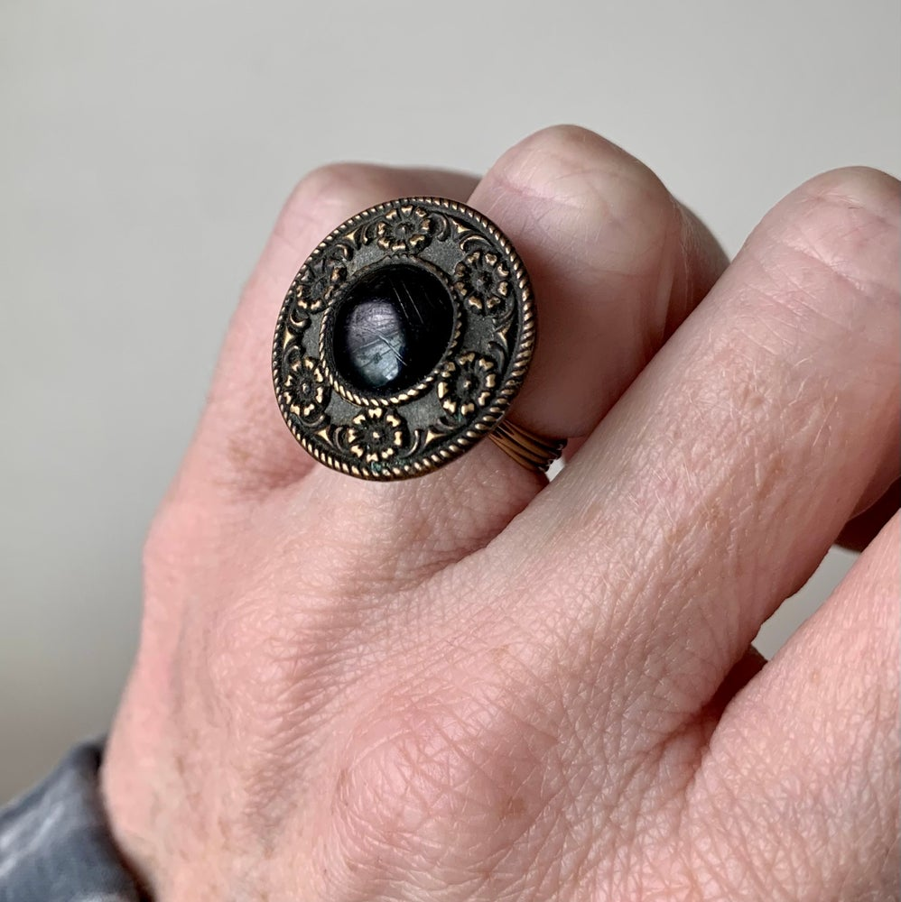 """Image of """"The First Lady"""" Statement Button Ring"""