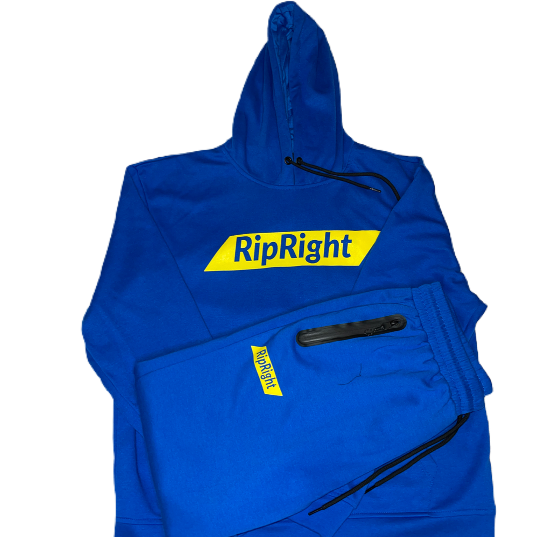 Image of Blue & Yellow Sweat Suit