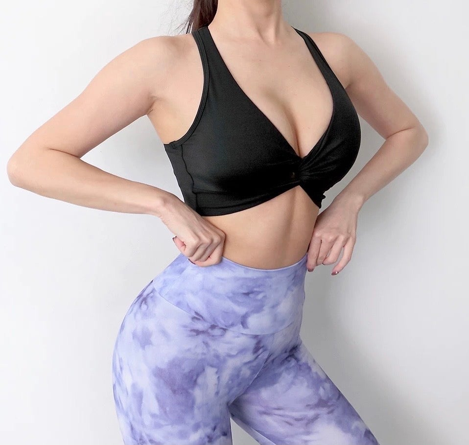 Image of THE KNOT CROP TOP BLACK