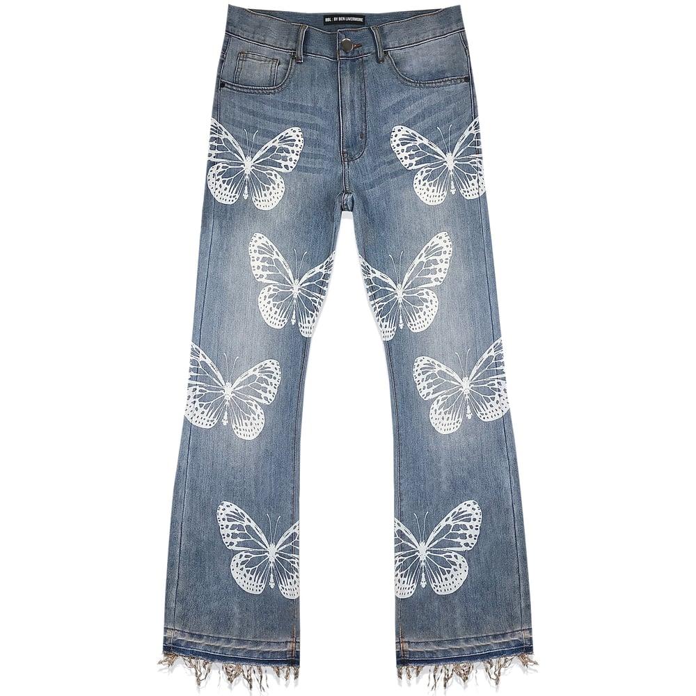 Image of Inhabitance Released Hem Jeans (Stonewash)
