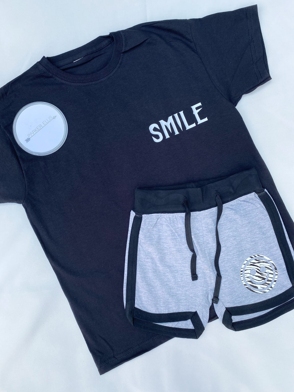 Image of Smile Shorts in Grey