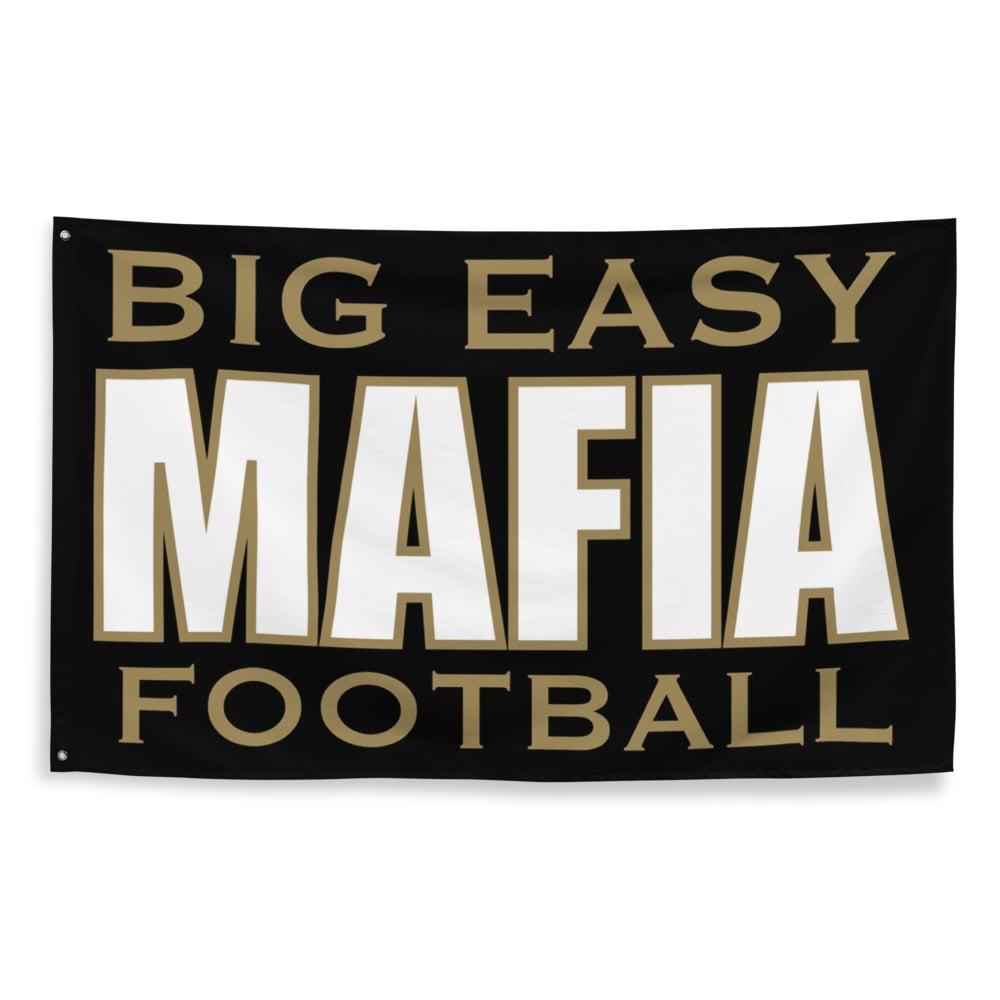 Image of Big Easy Mafia Saints Gameday Flag