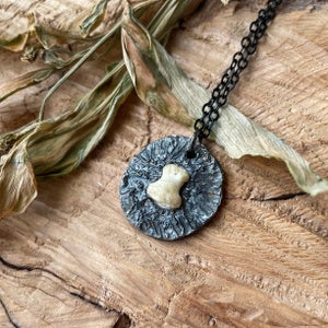 Image of Silver and Human Bone Pendant