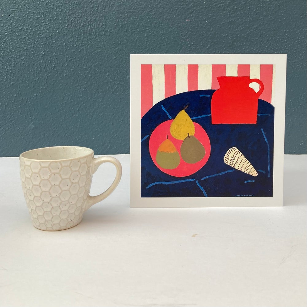 Image of Red Jug, Pears and Shell card