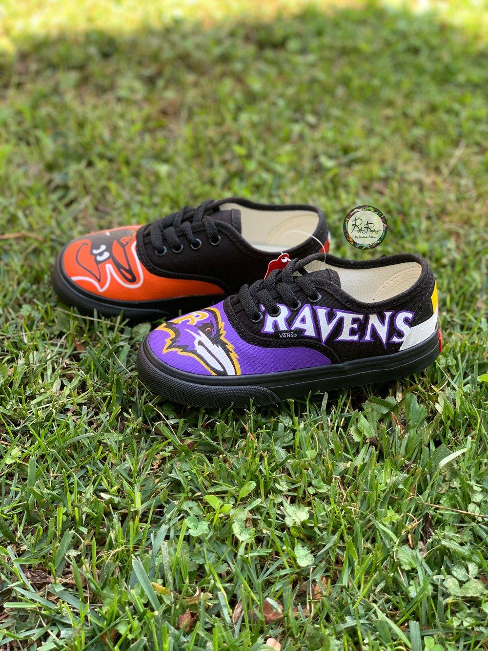 Image of Ravens x Orioles Toddler Authentic Vans