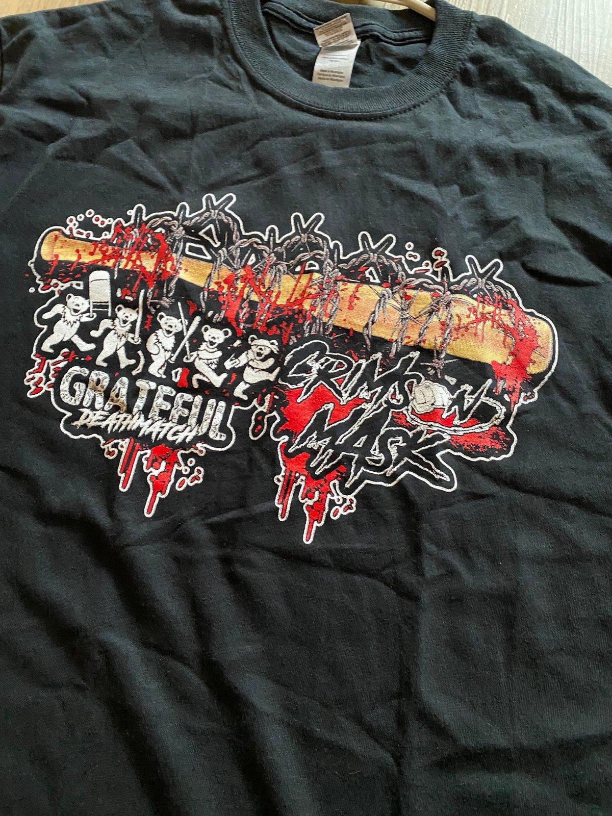 Crimson Mask x Grateful Deathmatch Collab Shirt