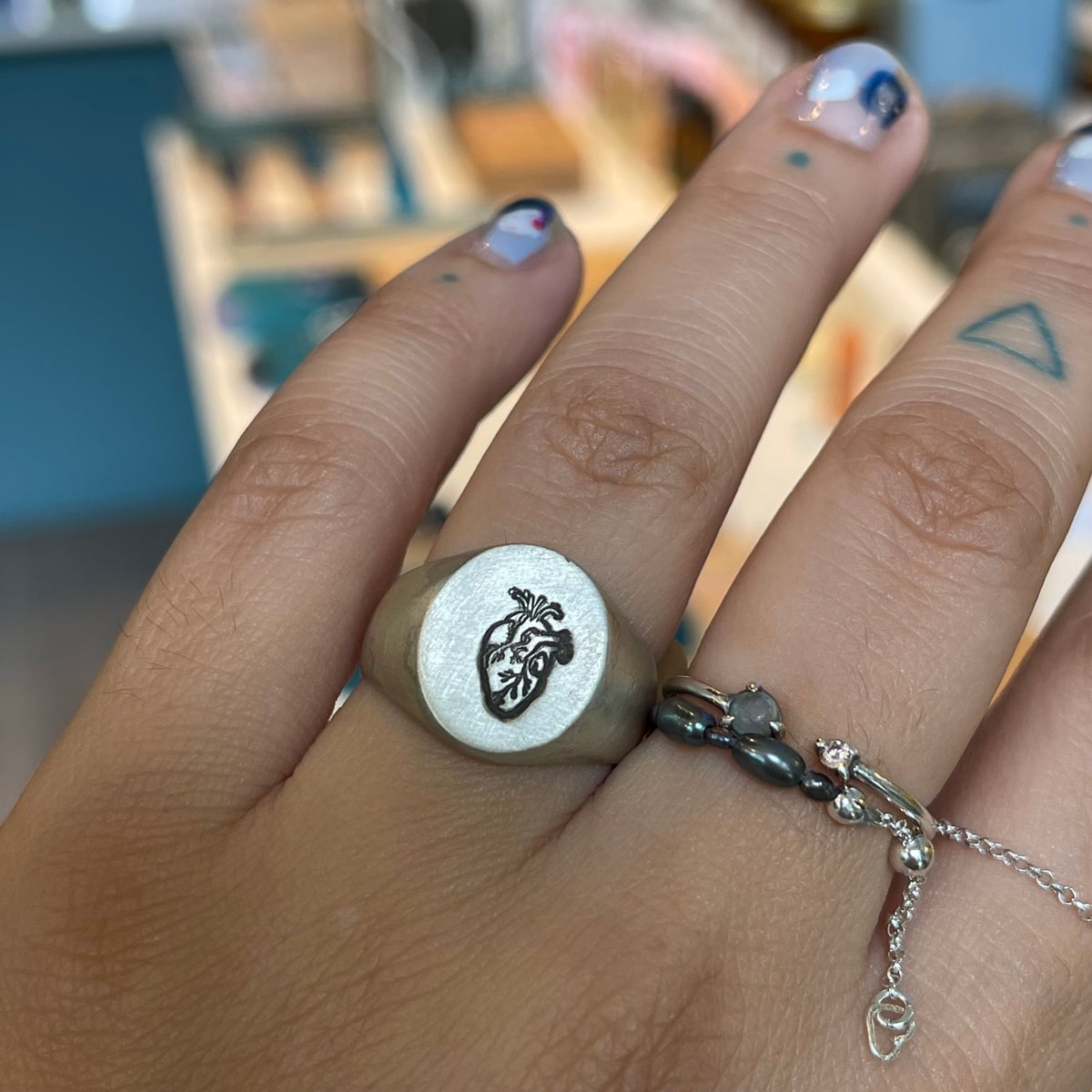 Image of heart signet ring