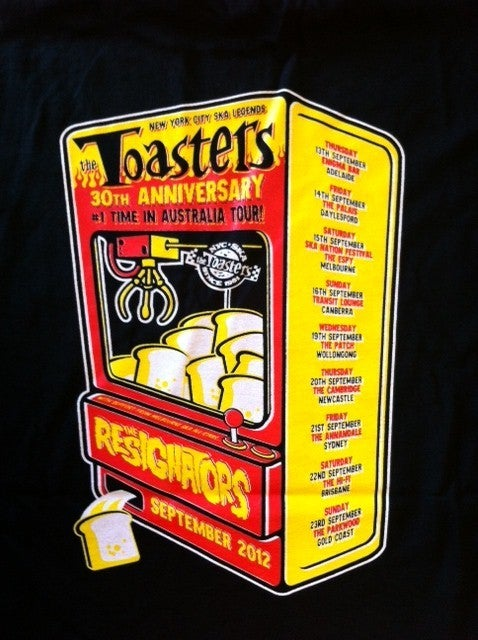 Image of TOASTERS Aus Tour Guys & Ladies T-Shirt