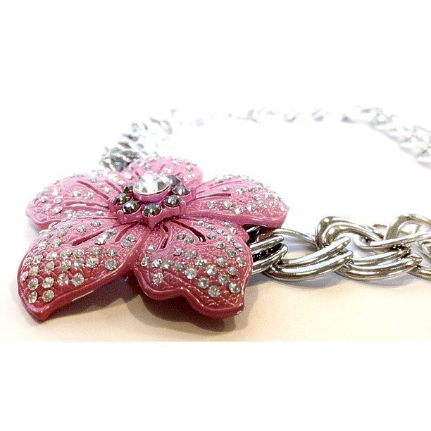 Image of Exclusive Neon Flower Chain Necklace