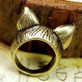 Image of Bronze Cat Ear Ring