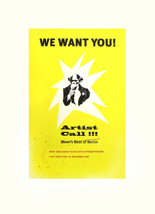"Image of ""We Want You!"" Silkscreen Print"