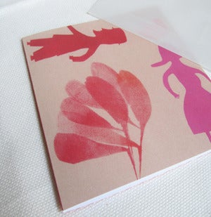 Image of Mr Man and Mme woman spring walk greeting cards