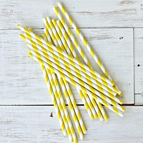 Image of Stripe Paper Straws