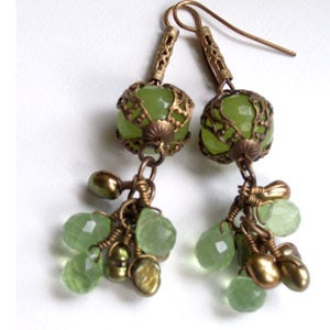 Image of Sole Alberti Lime Jade Dangles