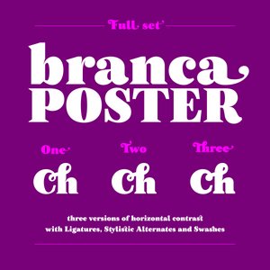 Image of Branca Poster Family (one, two and three)