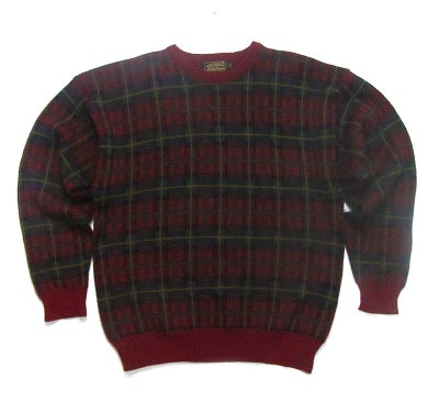 Image of Eddie Bauer Plaid Wool Sweater