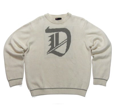 "Image of Diesel ""D"" Cream Knit Sweater"