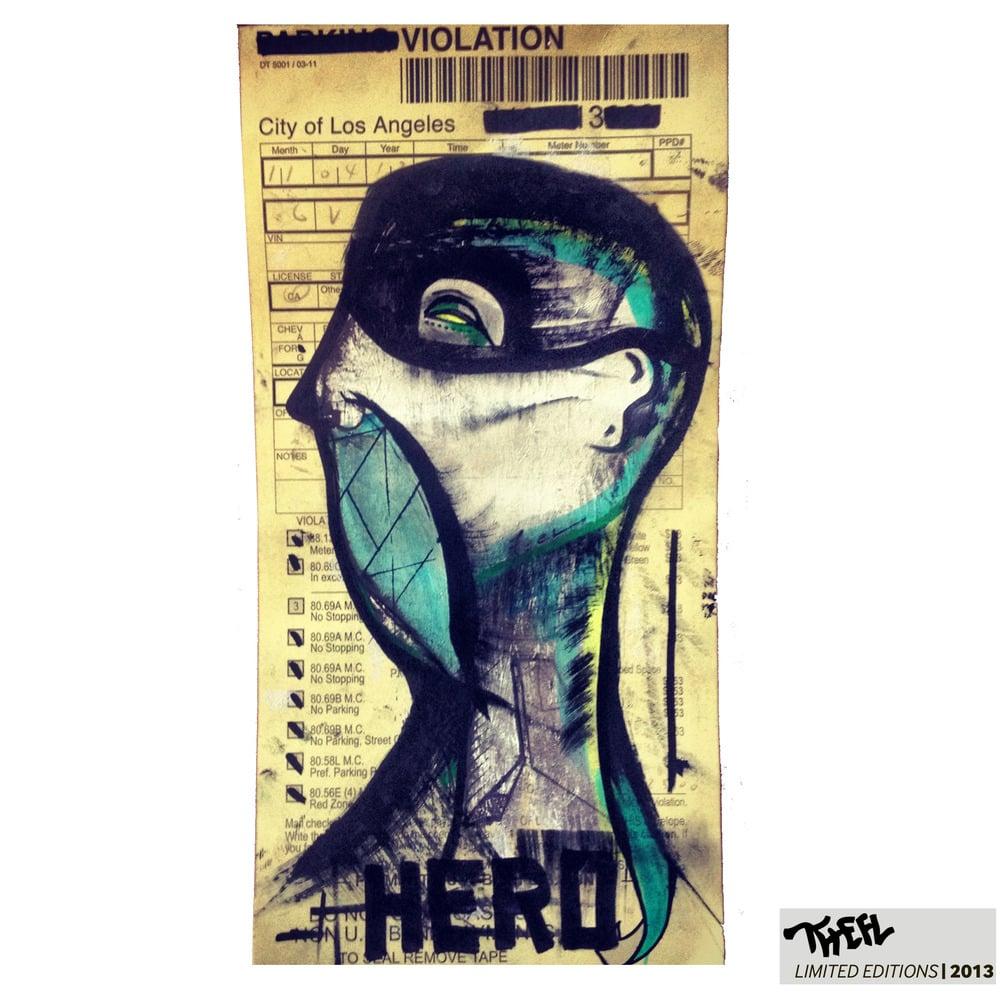 Image of THEFL - HERO / Original Mixed Media Piece / 1/1