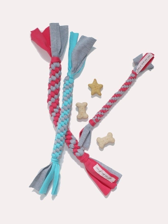 Image of cotton twisty tough dog toy