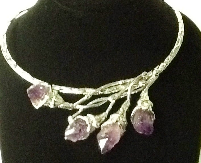 Image of Necklace: Chrome and Amethyst Handcrafted