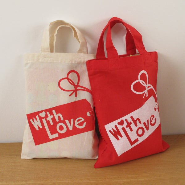 Image of With Love Gift Tag Bags
