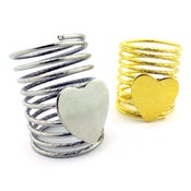 Image of NEW! Heart Coil Rings!