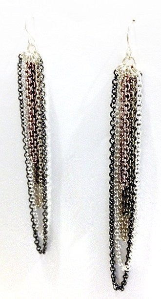 Image of Exclusive Multi Chain Drop Earrings