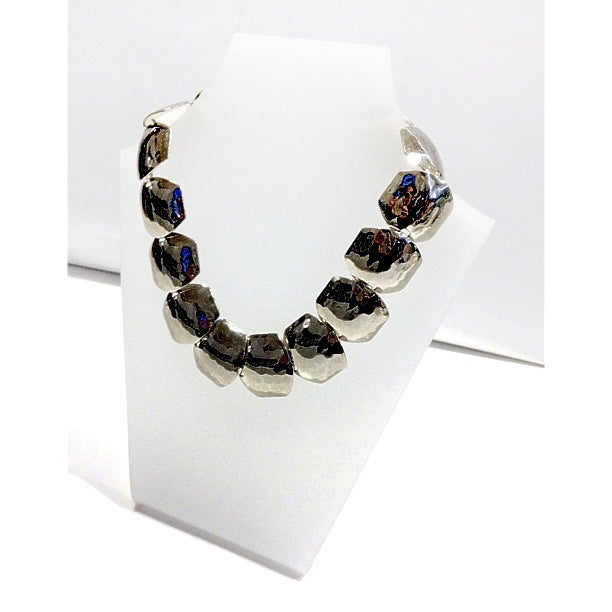 Image of Exclusive Annealed Gold Collar Necklace & Bracelet Set