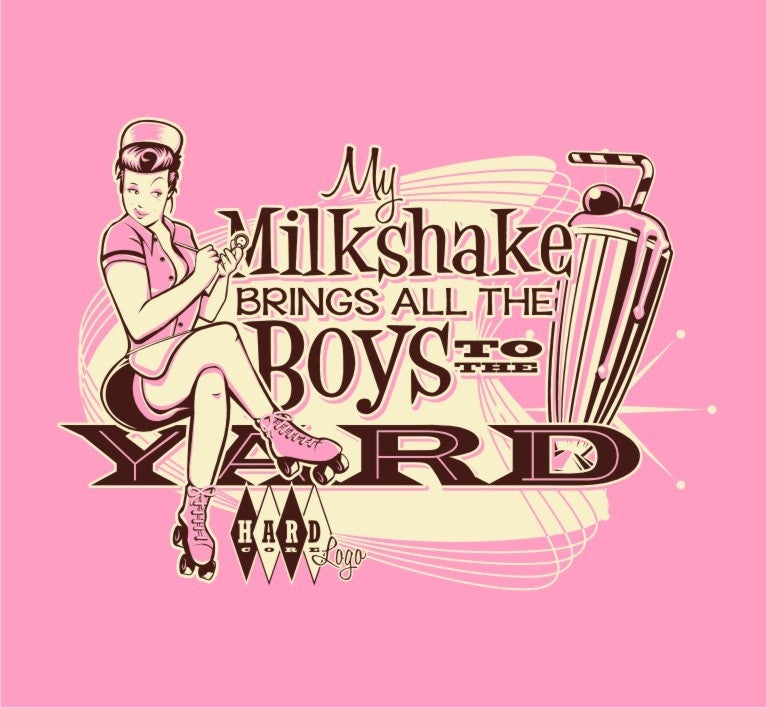 Image of Milkshake! Ladies Pink T-Shirt