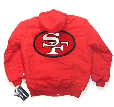 Image of San Francisco 49ers Starter Jacket Red