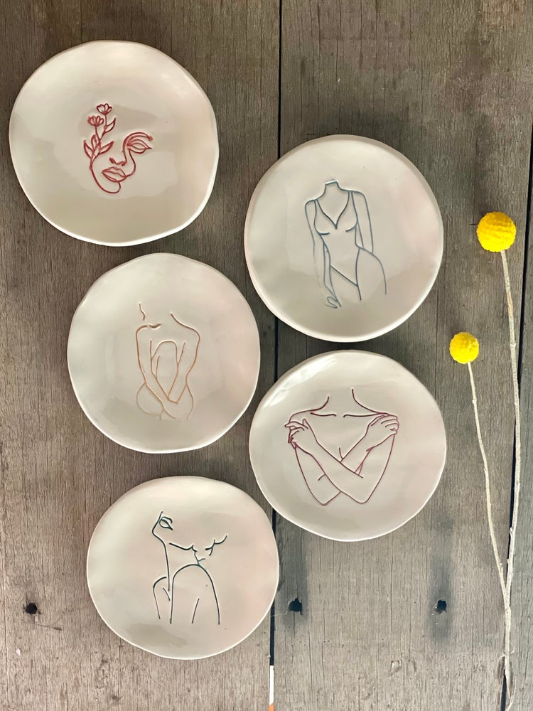 Image of Femme ring dishes- 5 Femmes to choose from.