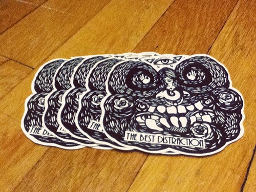 Image of 5 pack vinyl stickers