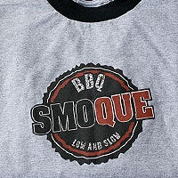 Image of Authentic Smoque BBQ Ringer Tee