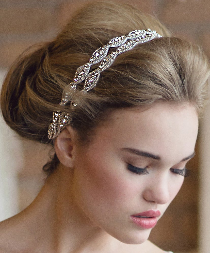 Two Strand Hanne Crystal Double Headband  de0e27bbc26