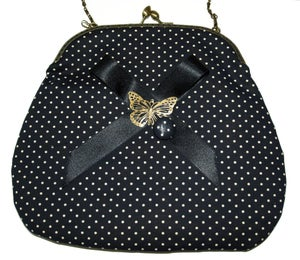 Image of BOQUILLA /FRAME POLKA DOTS BLACK