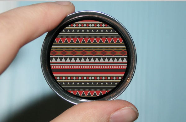 Image of Red Aztec Pattern Plugs