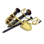 "Image of NEW! MKTPRICE Solid Brass ""Shovel-Head"" Necklace"