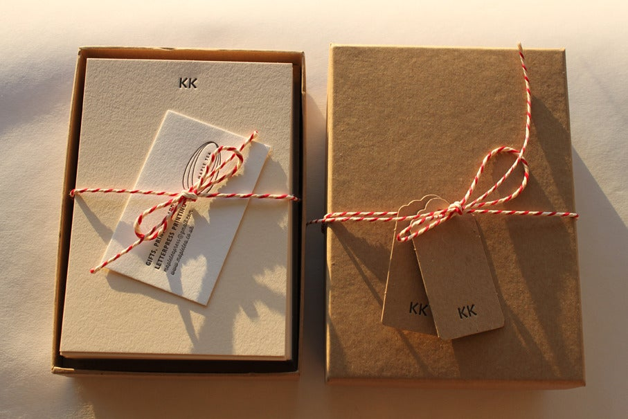 Image of Personalised Luxury Stationery Set // Letterpress printed, monogrammed set of 25 notecards