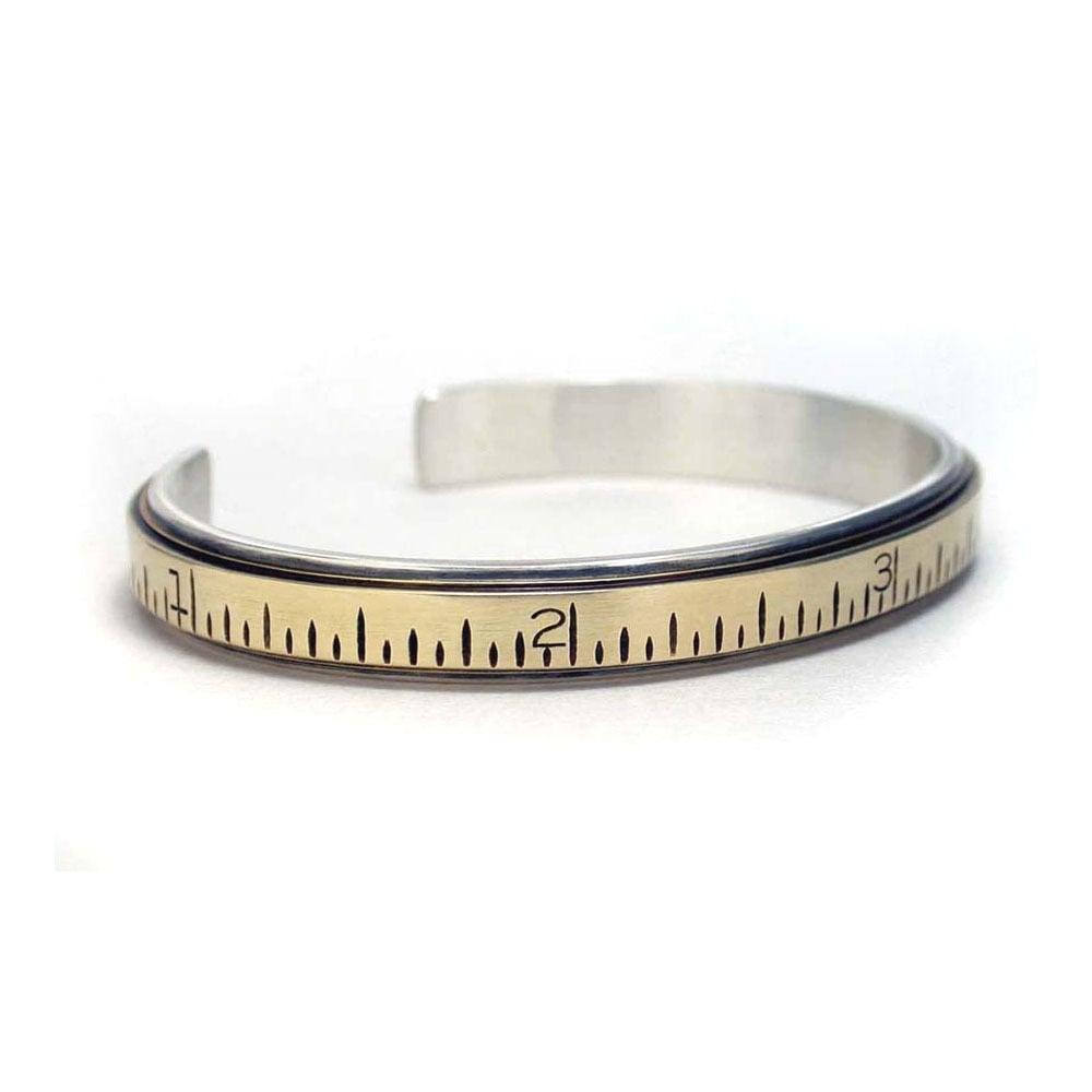 Image of extension ruler cuff bracelet