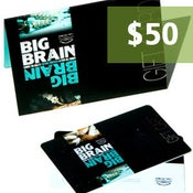 Image of $50.00 Big Brain Gift Card