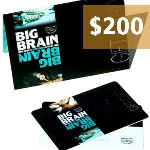 $200.00 Big Brain Gift Card