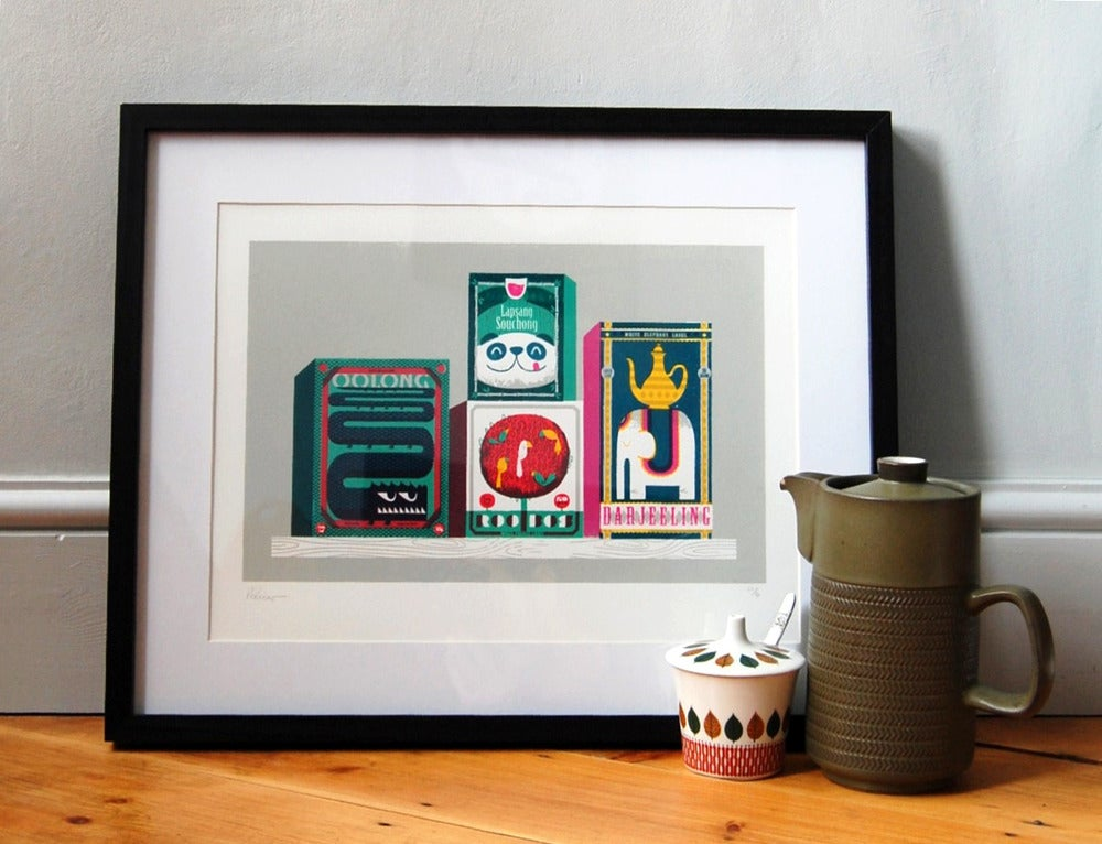 Image of Tea Box Zoo Screenprint