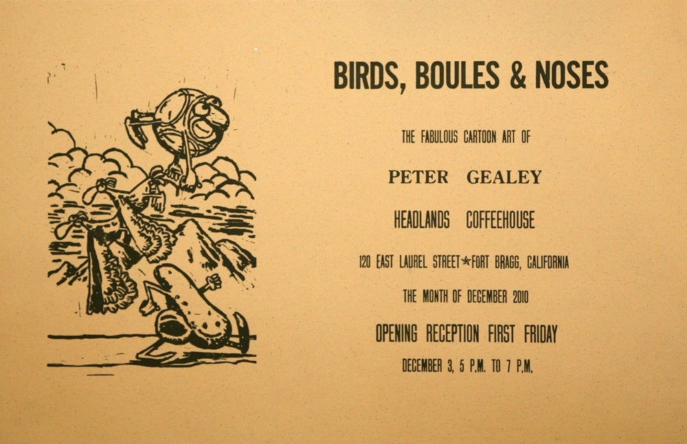 Image of Birds, Boules & Noses Poster