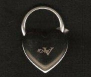 Image of Rated V Heart Key Chain